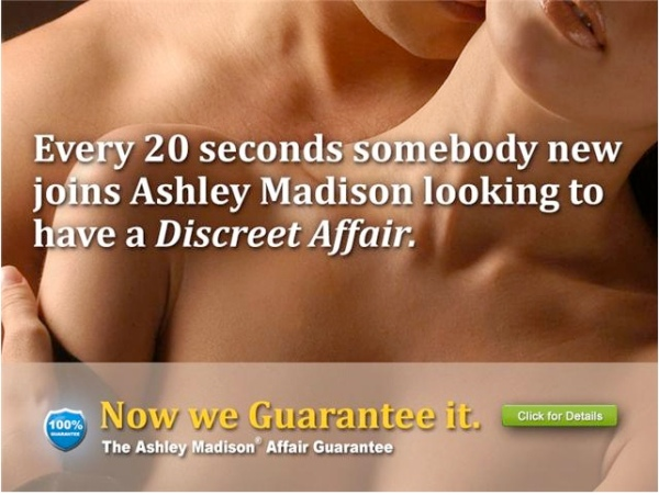 "WEB SITE SLOGAN:  ""LIFE IS SHORT. HAVE AN AFFAIR."""