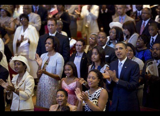 OBAMA MADE RARE CHURCH VISIT TO SHILOH BAPTIST IN NATION'S CAPITAL