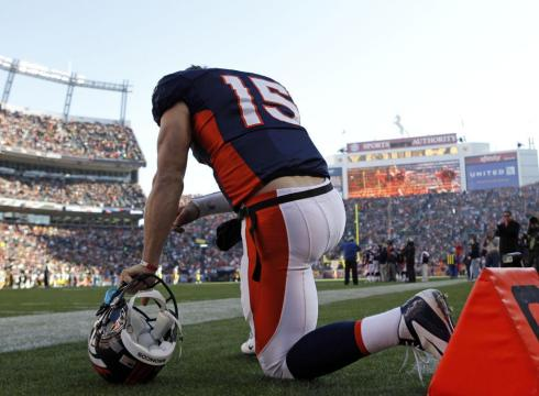 THERE WILL BE NO MORE TEBOWING IN THE MILE HIGH CITY.