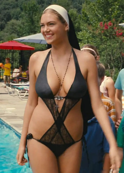 ACTRESS KATE UPTON, AS 'SISTER BERNICE,'  IN BARELY-THERE 'NUNKINI'