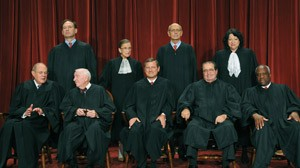 THE PRESIDENT IS WARY THAT JUSTICES WILL OVERTURN 'OBAMACARE.'