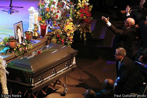 PASTOR RON ARMSTRONG AT THE FUNERAL OF HIS ELDEST SON, RYAN.