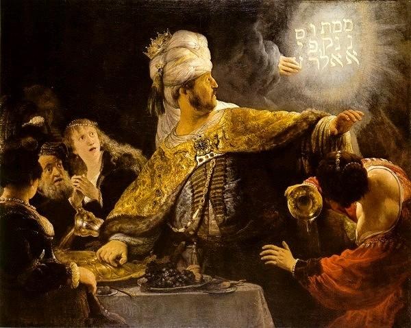 'BELSHAZZAR'S FEAST,' BY REMBRANDT. MENE, MENE, TEKEL, UPHARSIN.