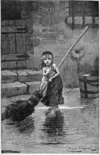 PORTRAIT OF 'COSETTE,' FROM THE ORIGINAL EDITION OF VICTOR HUGO'S  1862 MASTERPIECE 'LES MISÉRABLES.'