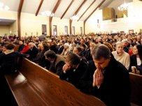 NEWTOWN RESIDENTS ATTENDED  PRAYER VIGIL LAST NIGHT.