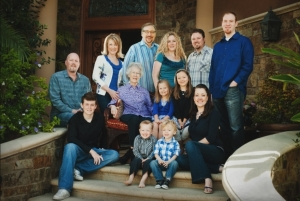 PASTOR RICK WARREN AND FAMILY. SON MATTHEW, WHO WENT TO BE WITH THE LORD YESTERDAY, IS PICTURED BOTTOM LEFT.