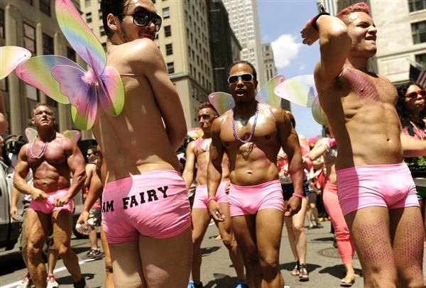 GAY PRIDE PARADES, ALREADY ORGIASTIC, WILL BE ESPECIALLY UPROARIOUS TODAY IN WAKE OF SUPREME COURT RULINGS.