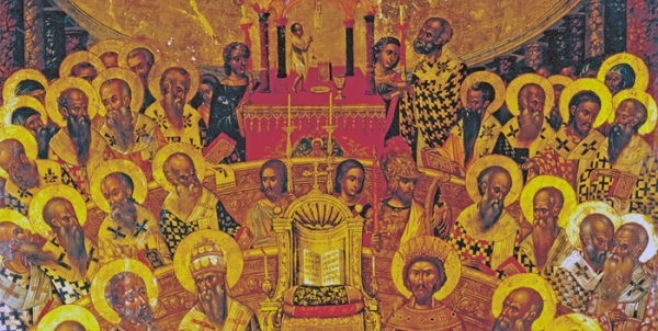 THE TRINITARIAN DOCTRINE WAS GIVEN THE IMPRIMATUR OF THE POST-APOSTOLIC CHURCH AT THE FIRST  COUNCIL OF NICAEA.