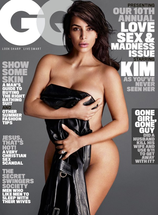 'IT'S DIFFICULT TO SLUT-SHAME KIM KARDASHIAN,' STATES GQ. BY GETTING MARRIED AND HAVING CHILDREN, THE MAGAZINE'S EDITORS REASON, 'KIM FINALLY EARNED THE RIGHT TO TAKE OFF ALL HER CLOTHES.'